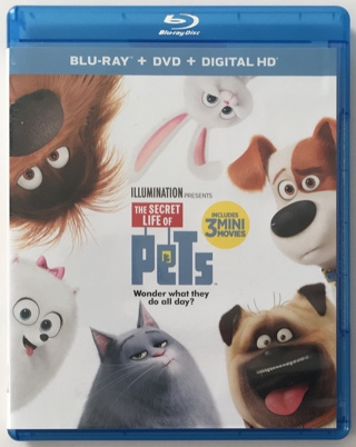 PETS Blu-Ray / DVD 2-Disc Combo Pack Movie with Mint Discs!