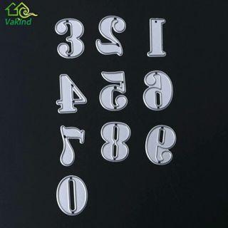 1 Set 0-9 Numbers Metal Cutting Dies Stencils DIY Embossing Scrapbooking Decorative