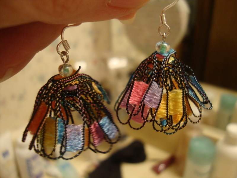 Free Ladder Yarn Earrings To Match Necklace Necklaces