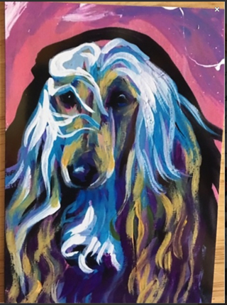 "FREE NEW AFGHAN DOG PORTRAIT - 4 x 5"" MAGNET"
