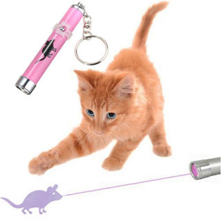 Training Funny Cat Play Toy Laser Pointer Pen Mouse Animation