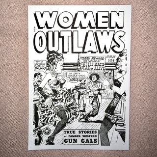 1 New Classic Comic Postcard DIY Color, Women Outlaws.