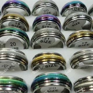 New top 5 colors Cat-eye Enamel man woman whirligig Stainless steel Ring jewelry