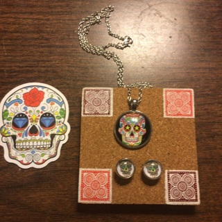 Sugar Skull Jewelry Set