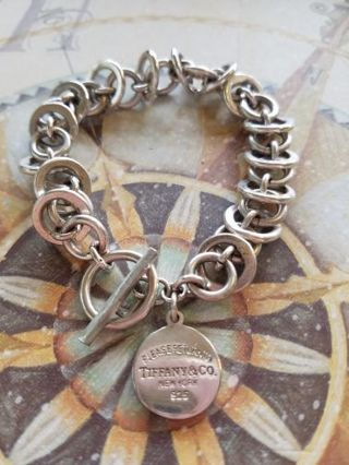 *Special listing* estate find, please return to Tiffany & Co. New York 925 toggle bracelet
