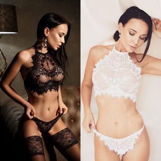 Women Sexy Lingerie Babydoll Lace Underwear G-string Nightwear Sleepwear Bra Set