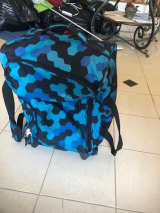 Calpak canvas suitcase