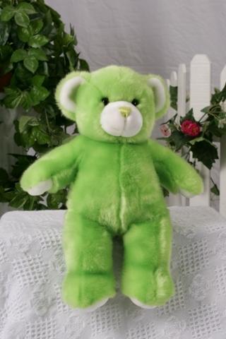 """NEW - Key Lime Green Teddy Bear - Build your own bear skin - 15"""""""