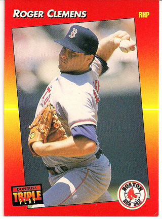 Free 216 Roger Clemenspitcher Of Red Sox 1992 Donruss