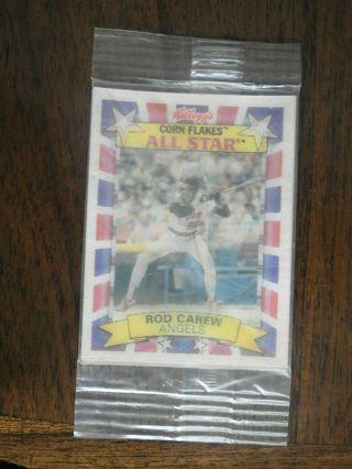 1992 KELLOGG'S CORN FLAKES ALL STAR BASEBALL ROD CAREW