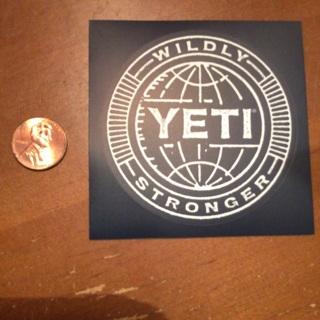 Yeti Cooler sticker