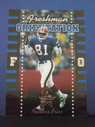 """1999 Leaf Rookies & Stars """"Freshman Orientation"""" Peerless Price (Bills) Rookie S/N #1276/2500"""