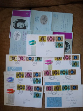 9 FDC first day cover uk queens jubilee 1977
