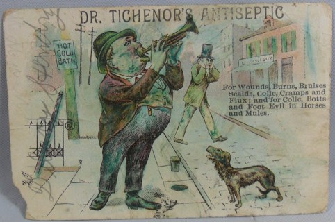 ANTIQUE DR TICHENOR'S ANTISEPTIC ADVERTISEMENT CARD