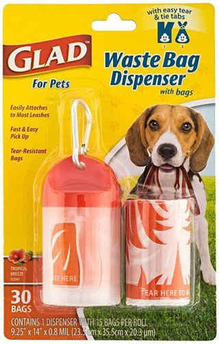 Pets Extra Large Tropical Scent Dog Waste Bags & Dispenser