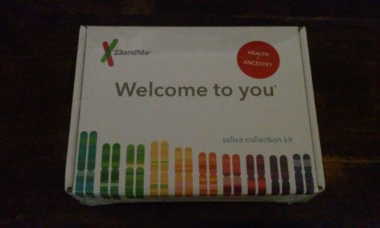 Brand New Factory Sealed 23andMe Health and Ancestry Saliva Collection Kit EXP 4/2022