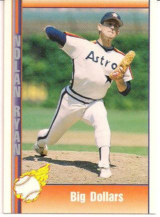 Free 141 Nolan Ryan Big Dollars 1991 Pacific Baseball