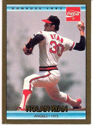 Free 9 Of 26 Nolan Ryan Angels 1975 1992 Donruss Coca Cola