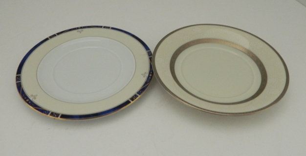 Two Bread & Butter Plates or Soup Cups Saucers Limoges Mikasa