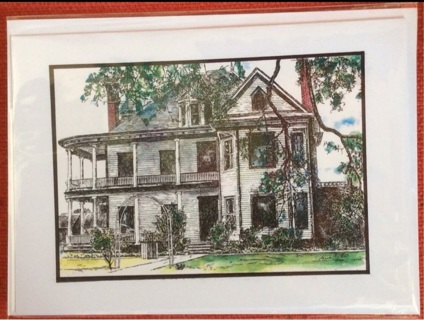 """WHITE VICTORIAN - 5 x 7"""" Art Card by artist Nina Struthers - GIN ONLY"""