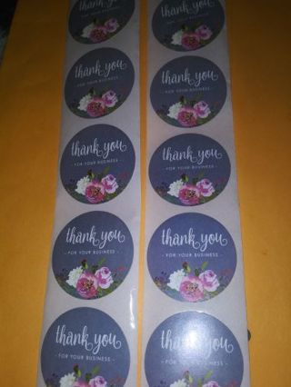 Thank you 20 pc stickers one inch No refunds! Regular mail I love these