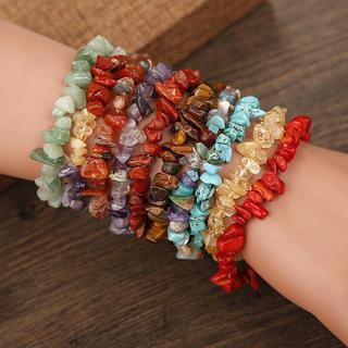 Charm Reiki Healing Bracelets Gemstone Crystal Chip Beaded Bracelet Stretch BY