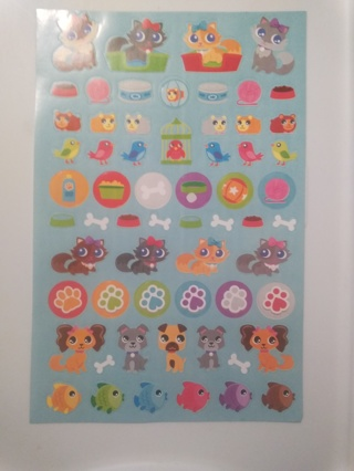 Large Sheet of My Little Pet Shop Stickers