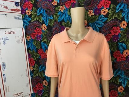 MEN'S Calvin Klein Shirt Casual Collar Tee Sherbert Calvin Klein Size 2XL