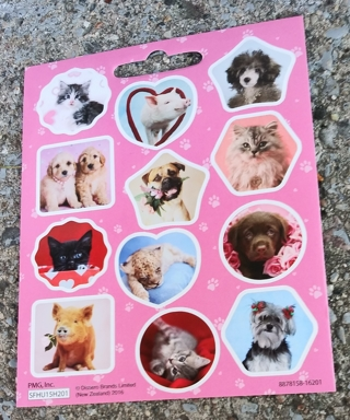 CAT AND DOG AND COW AND PIG STICKERS 3 SHEETS