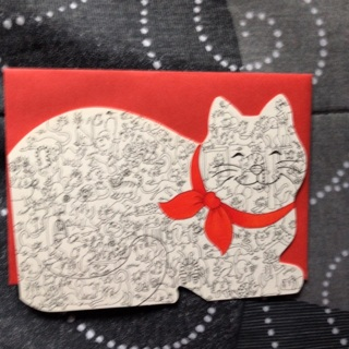 Cats on Cat Notecard