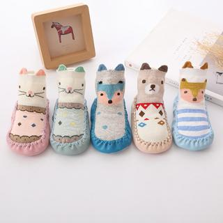Spring and Autumn winter cartoon baby socks Baby steps non-slip Leather Sole cotton children floor