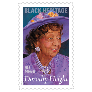Dorothy Height cancelled forever stamp