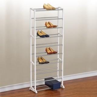 Lynk 30 Pair Shoe Rack - 10 Tier - Shoe Shelf Organizer - White