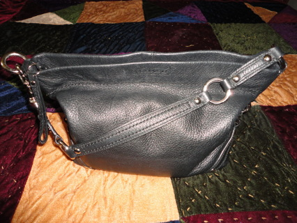 """AUTHENTIC COACH """"CARLY"""" PEBBLED LEATHER PURSE HOBO SHOULDER BAG K1073-F1525!!!"""