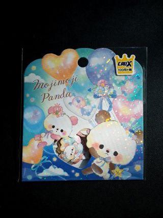 "Kawaii~Crux '2018' Moji Moji Panda ""I Love You!!"" Sticker Sack *Only One, Available!!*"