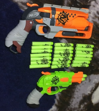 NERF TOY GUNS WITH FOAM DARTS