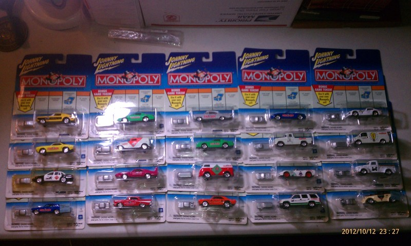 Free Johnny Lightning Monopoly Series Cars Complete Set