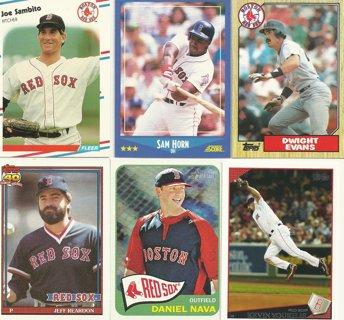 10-Card Lot of Boston Red Sox Baseball Cards
