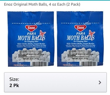 Enoz Original Moth Balls, 4 oz Each (2 Pack)