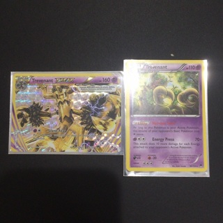 The pokemon Trevenant break and normal trevenant with sleeves