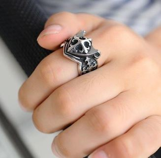 NEW RING Men's Vintage Style Antique Silver Cross Gift Biker Man Shield Jewelry FREE SHIPPING