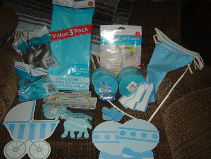 Baby Boy Shower/Party Supplies ~ NIP'S and some Gentle Used