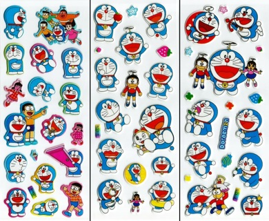 NEW JAPANESE Doraemon Pop Up 3D Puff Stickers Super Cute!..VALUE PACK(3)! FREE SHIPPING Anime Manga