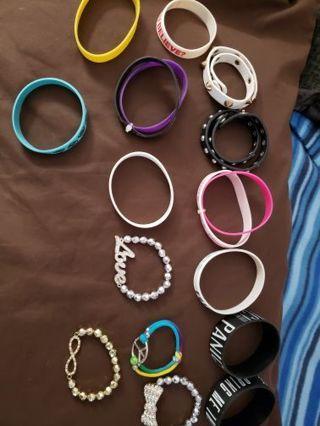 17 bracelets