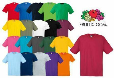 Kids Mens S-2XL T-Shirt Plain t Tee Fruit of the loom blank cheap bulk wholesale