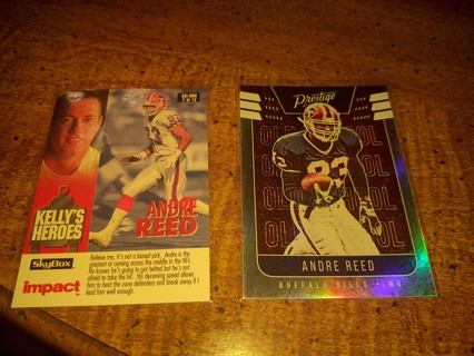 Two Card lot football wide receiver veteran Andre Reed Buffalo bills