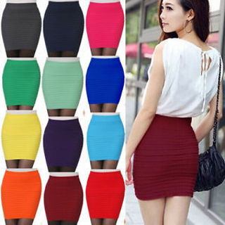 Wome Seamless Stretch Tight Sexy Bodycon Mini Skirt Short Pencil Dress TOP