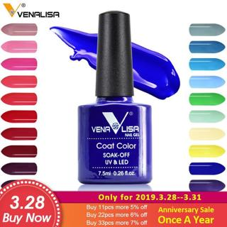 Venalisa nail gel polish 60 color high quality product nail art soak off odorless organic uv gel n