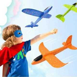 Kids Toys Hand Throw Flying Plane Foam Aeroplane Model Outdoor Launch Glider DF3