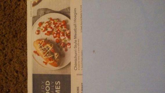 Chimichurri-style meatball hoagies